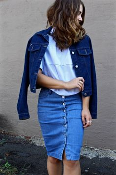 How to Wear 3 Shades of Blue Denim
