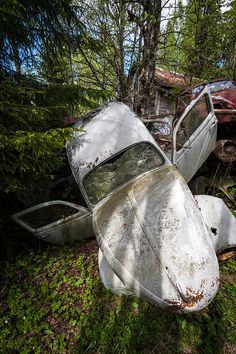 | 15 Eerie Pictures Of A Classic Car Graveyard In Sweden