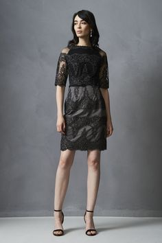 New Fall 2016 Embroidered Cocktail Dress from KAY UNGER. Use code Z25 for 25% off your order.