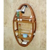 Found it at Wayfair - Spa Teak Oval Shower Organizer