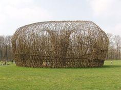 Giuliano Mauri Art Et Architecture, Natural Architecture, Land Art, Contemporary Baskets, Instalation Art, Willow Weaving, Art Sites, High Art, Environmental Art
