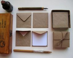 12 Small Envelopes with Mini Note Cards $6 @Mariana E Paula Moreno