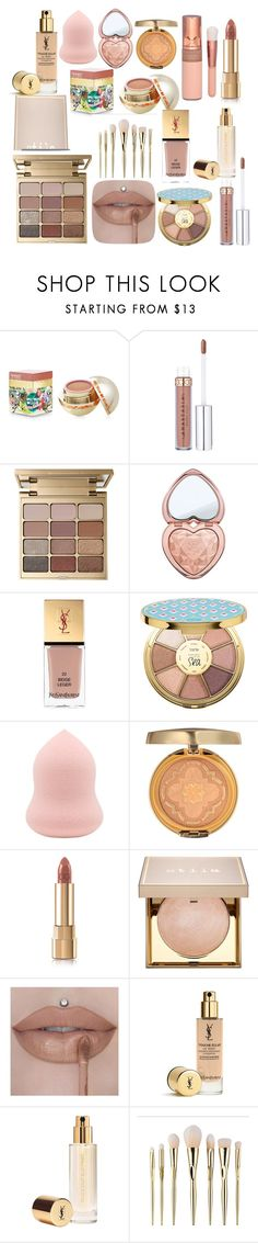 """All About Nude"" by sofi6277 on Polyvore featuring Belleza, Teeez, Stila, Too Faced Cosmetics, Yves Saint Laurent, tarte, Physicians Formula y Dolce&Gabbana"