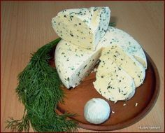 """How to Make cheese In Home? A wonderful recipe for homemade cheese. Fast and """"without zamorochek."""" A taste like suluguni or tender brynza. You can do with dill, cilantro, walnuts, olives, paprika. Homemade Cottage Cheese, Homemade Cheese, Ukrainian Recipes, Russian Recipes, Most Delicious Recipe, Wonderful Recipe, How To Make Cheese, Food To Make, Cheese Recipes"""