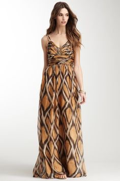 Nice tribal/animal print feel w/o it being too obvious... Printed Maxi Dress by Decode 1.8 on @HauteLook