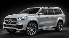 First outlook on the new Mercedes-Benz Concept X-CLASS pickup. With the Concept X-CLASS, Mercedes-Benz Vans gives a concrete outlook on its new pickup… Mercedes Benz Classes, Vans Mercedes Benz, Mercedes Benz Trucks, Mercedes Maybach, Benz Suv, Pick Up, Mercedes Concept, New Pickup Trucks, Jeep Pickup