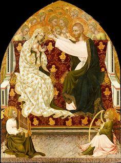 Coronation of the Virgin Artist: Giovanni di Paolo (Giovanni di Paolo di Grazia) (Italian, Siena 1398–1482 Siena) Date: ca. 1455