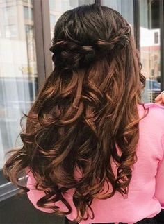 Cute Half Updo or Updo Hairstyle 2018