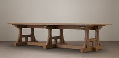 Circa 1900 Craftsman Rectangular Table   RH.... stunning table ... various size, also round ones... buy one for living - Dining room as do everything table
