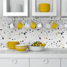 p/green-white-terrazzo-adhesive-film-waterproof-kitchen-backsplash-skugwtaf delivers online tools that help you to stay in control of your personal information and protect your online privacy. New Kitchen Cabinets, Old Kitchen, Kitchen Countertops, Country Kitchen, Kitchen Sinks, Kitchen Without Backsplash, Wallpaper Backsplash Kitchen, Kitchen Backplash, Modern Kitchen Backsplash