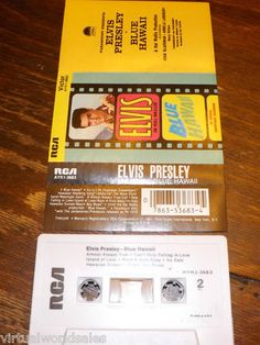 Elvis Blue Hawaii cassette- in very good condition! #elvis #bluehawaii