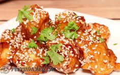 Mézes-szezámmagos csirke recept fotóval
