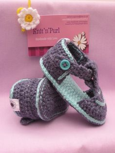 Crochet baby boy sandals - Made to Order £12.00