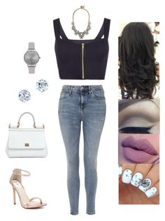 """Untitled #3444"" by sigalv ❤ liked on Polyvore featuring WearAll, Topshop, Olivia Burton, Dolce&Gabbana, BaubleBar, Windsor Smith, women's clothing, women, female and woman"