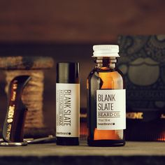 """Beard grooming: """"Light and earthy, our Blank Slate Beard Oil and Mustache Wax are the only essentials you need to keep your beard looking awesome this winter. Photo by…"""""""