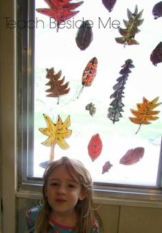 Stained Glass Fall Leaf Art - Teach Beside Me