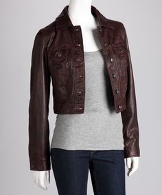 Black Leather Jacket - Apart