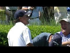 Lefty tries to hit righty on No. 17 at TPC Sawgrass