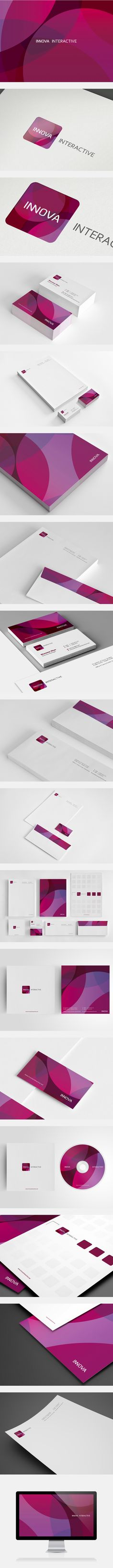 Innova Interactive Identity Design Identity and Branding Corporate Design, Brand Identity Design, Graphic Design Branding, Brochure Design, Logo Design, Identity Branding, Visual Identity, Web Design, Id Card Design