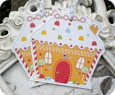 NEW  Gingerbread House Christmas Tags  by LittlePaperFarmhouse, $6.50