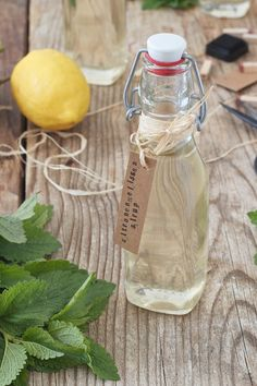 Zitronenmelissensirup Rezept – Sweets and Lifestyle Lemon balm syrup recipe from Sweets & Lifestyle® Lemon Syrup, Homemade Syrup, Homemade Recipe, Lemon Drink, Body Cleanse, Cleanse Detox, Diet Detox, Lemon Balm, Weight Loss Drinks