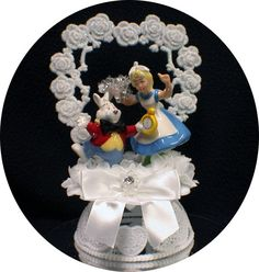 Its Time   Cute Cat & Alice in Wonderland by YourCakeTopper, $54.88