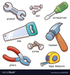 Illustration about Vector illustration of Vocabulary Tools set. Illustration of tools, illustration, tape - 85830894 Learn English Grammar, English Vocabulary Words, Learn English Words, Grammar And Vocabulary, English Language Learning, Teaching English, Kids English, English Tips, English Study