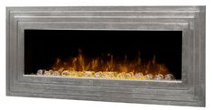 The Ashmead Antique Silver Linear Wall Mount Electric Fireplace - features a modern silver tiered frame & contemporary flame effects. Wall Mounted Fireplace, Fireplace Frame, Fireplace Stores, Linear Fireplace, Wall Mount Electric Fireplace, Fireplace Surrounds, Fireplace Mantels, Wall Fireplaces, Fireplace Ideas