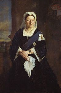 Queen Victoria (1819-1901) - Heinrich von Angeli.  In the Royal Collection, not seen this painting before.