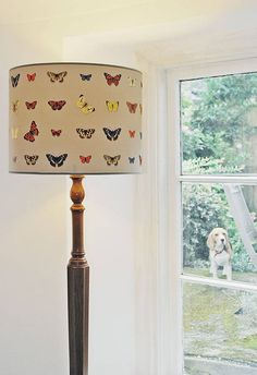 handmade butterfly drum lampshade by daniel croyle | notonthehighstreet.com