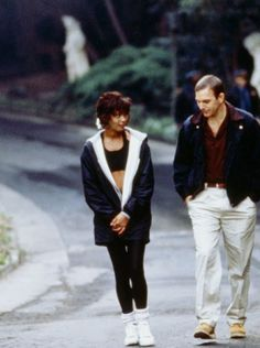 Whitney Houston and Kevin Costner in The Bodyguard, 1992. Via http://hollywoodlady.tumblr.com/