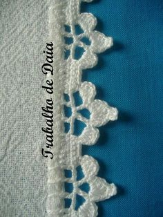 32 Ideas crochet lace edging simple for 2019 Crochet Border Patterns, Crochet Lace Edging, Crochet Quilt, Crochet Diagram, Crochet Trim, Crochet Shawl, Crochet Doilies, Crochet Flowers, Knit Crochet