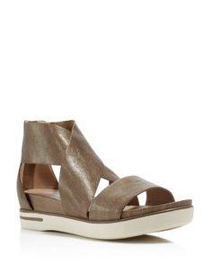 64417c84de8e Eileen Fisher Sport Metallic Open Toe Sandals Shoes - Bloomingdale s