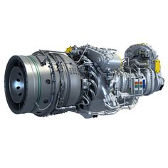 Pratt & Whitney Canada PW100 Turboprop Engine 3D Model