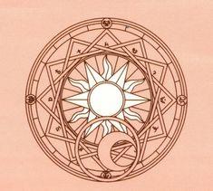 Clow Reed's Magic Circle from CLAMP's Cardcaptor Sakura
