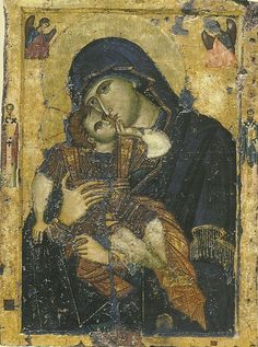 "Christ is risen! Close-up icon of Christ Resurrected, telling St. Mary Magdalene ""Do not hold me"" (Icon courtesy of. Byzantine Icons, Byzantine Art, Religious Icons, Religious Art, Ancient Words, Christ Is Risen, Mama Mary, Religious Paintings, Orthodox Christianity"