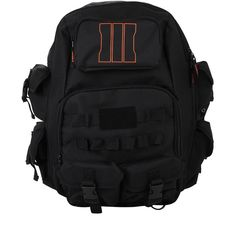 Call Of Duty Black Ops III Built Backpack Hot Topic ($60) ❤ liked on Polyvore featuring bags, backpacks, knapsack bags, black knapsack, black rucksack, backpacks bags y black backpack