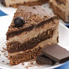Brown Sugar Frosted Chocolate Layer Cake  Recipe: http://theitaliankitchen.org/recipes/brown-sugar-frosted-chocolate-layer-cake.html