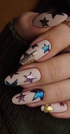 This Christmas Awesome Nails Design Ideas and Nail Polish Part 14 - Nails . - This Christmas Awesome Nails Design Ideas and Nail Polish Part 14 – Nails Christmas Gel Nails, Christmas Nail Art Designs, Holiday Nails, Christmas Design, Christmas Ideas, Colorful Nail Designs, Cool Nail Designs, Acrylic Nail Designs, Acrylic Nails