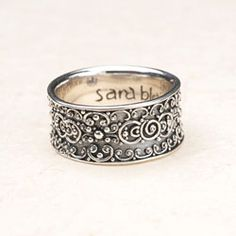 Scrollwork holds its own on this versatile sterling silver statement ring. donnaaquilino.willowhouse.com