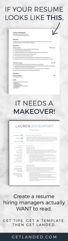 80% of candidates desperately need a resume makeover! Get a resume makeover today with a resume template and resume writing tips that will transform your resume into something hiring managers actually want to read!
