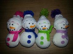 Sneeuwpop sokken
