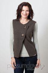 Women's Vest Possum Fur Merino Wool Felted Two Button