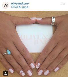 Clear chevron piece mani