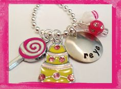 Happy Birthday - B-Day Cake Charm Necklace for Girls