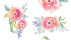 Free Watercolor Flowers Clip Art For Subscribers