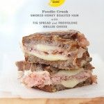 Honey Smoked Ham with Fig Spread Grilled Cheese