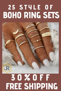 View more trending styles! Silver Tattoo, Silver Shop, Bohemian Rings, Gypsy Jewelry, Diy Jewelry, Gold Fashion, Fashion Jewelry, Fashion Fall, Boho Designs