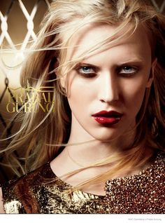 Juliana Schuring Fronts Prabal Gurung x MAC Cosmetics Makeup Campaign