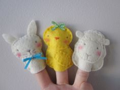 Spring/ Easter Friends Finger Puppets by LookHappyShop, via Flickr